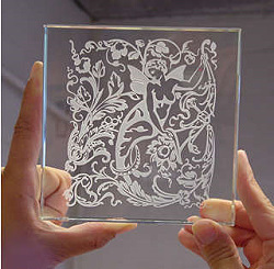 Glass Etching: Surface Techniques and Designs